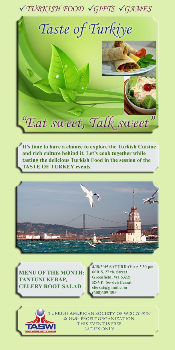 Taste of Turkiye Flyer